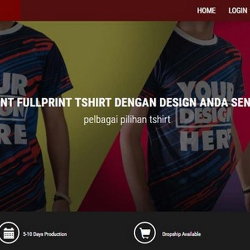 Design Sendiri Baju Korang di Online Shop Custom Malaysia