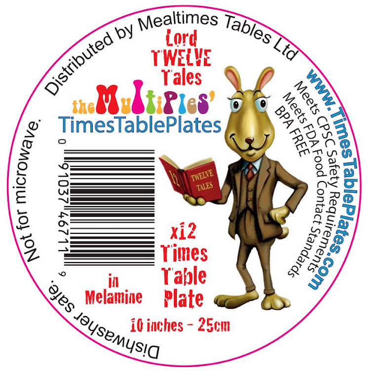 Label Times Table Plate