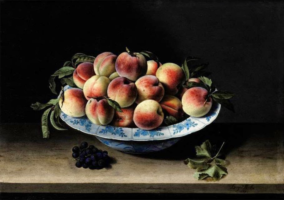 Louise Moillon - Still Life with Peaches on a Ledge