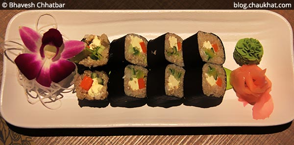 Quinoa Maki Sushi at Shizusan (The Asian Bistro) in Phoenix Market City at Viman Nagar area of Pune