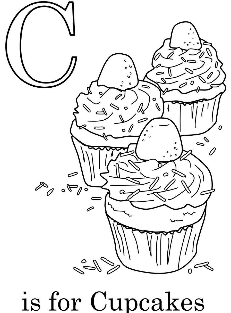 unique hello kitty cupcake coloring pages pictures