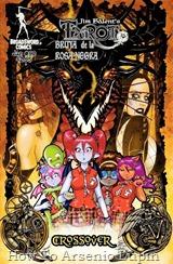 """Actualización 10/02/2019: ¡Sus manos donde pueda verlas o les lanzo un hechizo! Se agregan mas de 40 números al post de Tarot - La Bruja de La Rosa Negra, desde el 48 al 90. Bueno, aquí pongo solo la sinopsis del 90 y su portada, porque sino serian muchas imágenes y... olvidenlo. """"Crossover"""". Cuando los estudiantes de la Academia de la Sombra chocan accidentalmente en el reino de los Faery, ¡Cherry Creeper y sus amigos se encuentran cara a cara con un Dragón enojado! ¡Ni siquiera Tarot o Raven Hex pueden evitar su ardiente encuentro! Esta es la primera vez que los personajes de School Bites (otro cómic de Broadsword Comics pero con estilo manga) y Tarot: La Bruja de la Rosa Negra han hecho un crossover!"""