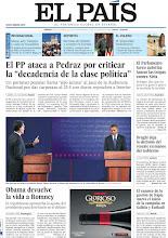 """Photo: El PP ataca a Pedraz por criticar la """"decadencia de la clase política"""", Obama devuelve la vida a Romney en el Parlamento turco autoriza lanzar las tropas contra Siria, en la portada de la edición nacional del viernes 5 octubre de 2012 http://cort.as/2Zm3"""