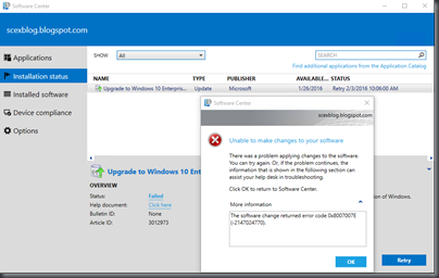 My System Center & EM+S Experience: Windows 10 Servicing via