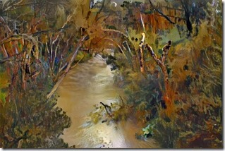 Dandenong Creek styled on Fred Williams