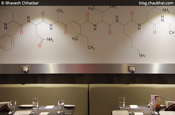 Chemistry signs on the walls of SocialClinic Restobar located at Koregaon Park in Pune