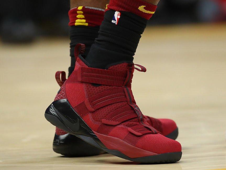568e79792cb LeBron James Changes Shoes Three Times as Cavs Beat Kings ...