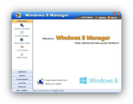 Yamicsoft Windows 8 Manager 1.1.3 Portable - Cuida tu Windows 8