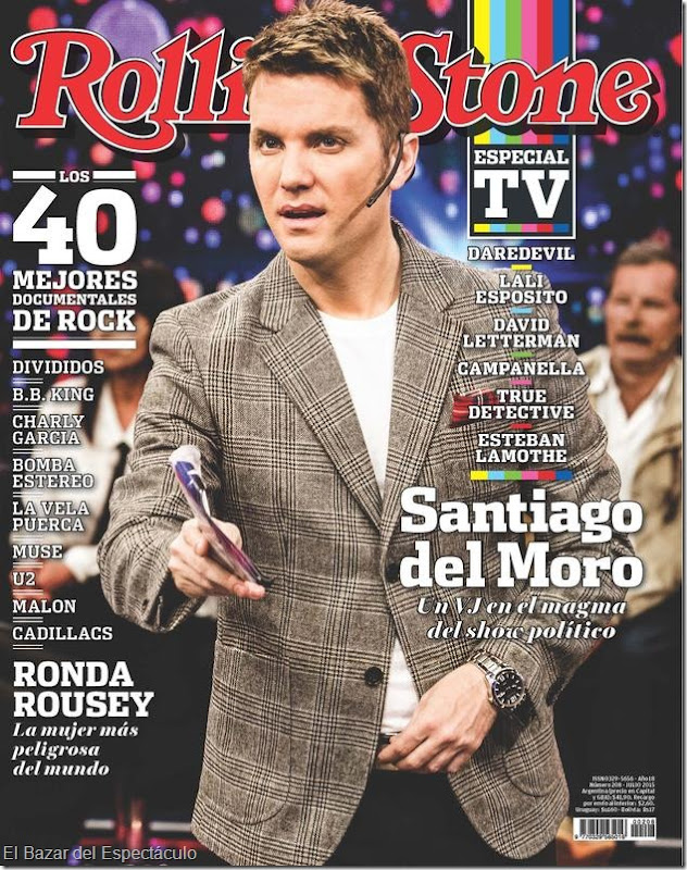 Santiago del moro en revista rolling stone julio 2015 for Revistas del espectaculo