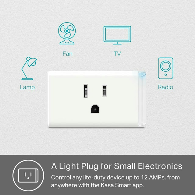 Amazon has TP-Link's Smart Plug Lite 4-Pack on sales for $26.99 [48% OFF]