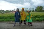 Déšť dětem vůbec nevadil.
