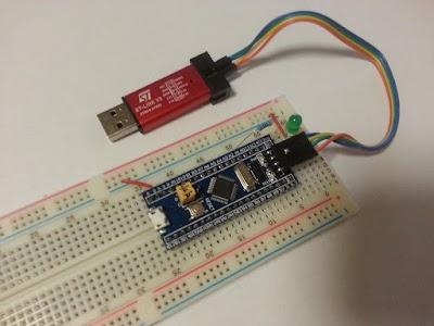 STM32 board, ST-LINK/V2 debugger/programmer