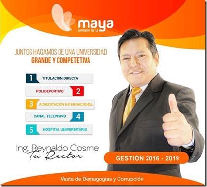 Resultados finales: Reynaldo Cosme es el nuevo Rector de la UPEA