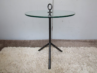 Glass Top Tripod Table