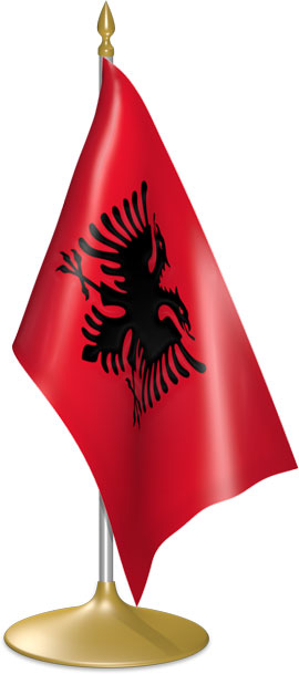 Albanian table flags - desk flags