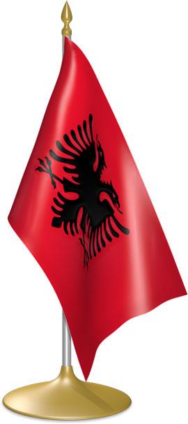 Albanian table flags - desk flags