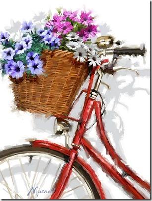 imágenes de bicicletas con flores (22)