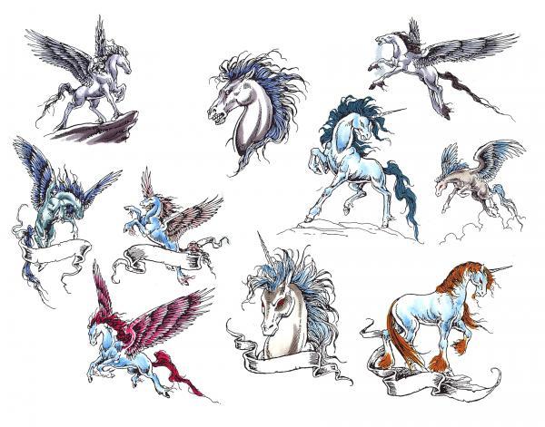 Design Of Magical Tattoo, Fantasy Tattoo Designs