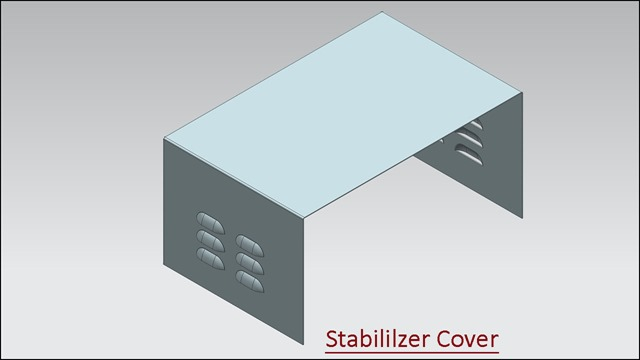 3d Solid Modelling Videos Stabilizer Cover Sheet Metal