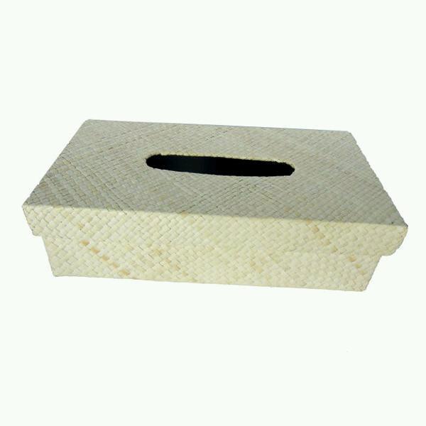 BOX TEMPAT TISSUE WARNA POLOS KREM NATURAL BISA DECOUPAGE