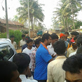 Campaining in Hunsur by Pratap Simha's brother Vikram Simha