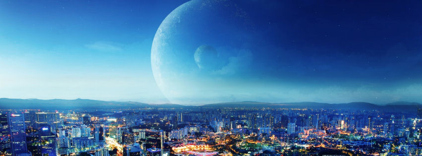 City night fantasy facebook cover