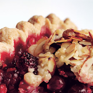 Mixed Berry Pie with Ginger, Orange, and Almond Streusel