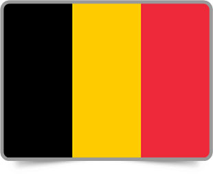 Belgian framed flag icons with box shadow