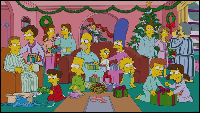 "THE SIMPSONS: When tourists drive up Christmas shopping prices in Springfield, Marge decides to open up the Simpsons' house to boarders in the ""White Christmas Blues"" episode of THE SIMPSONS airing Sunday, Dec. 15 (8:00-8:30 PM ET/PT) on FOX.  THE SIMPSONS ™ and © 2013 TCFFC ALL RIGHTS RESERVED."