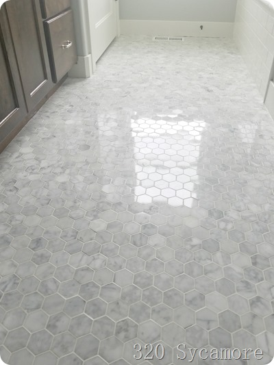 carrera hex marble tile