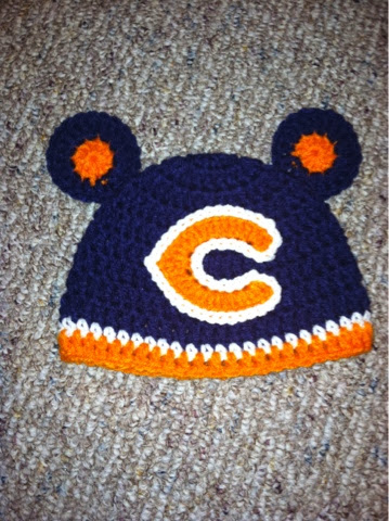 Crochet baby hat, Chicago bears hat Crochet and Knit ...