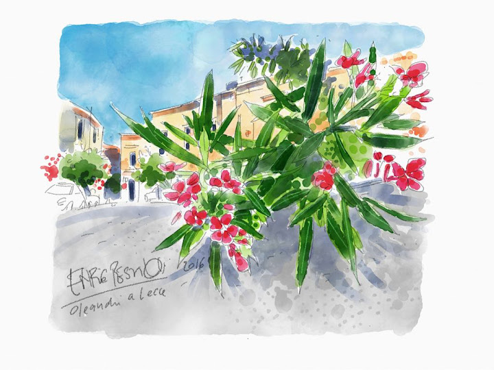 Lecce, morning sun in May made with Sketches