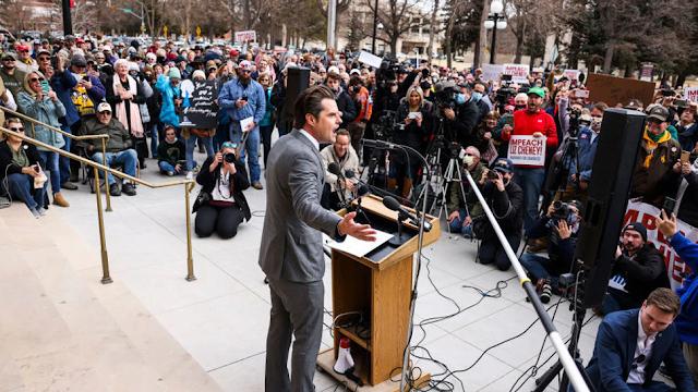 Matt Gaetz Travels To Wyoming, Rallies Against Liz Cheney