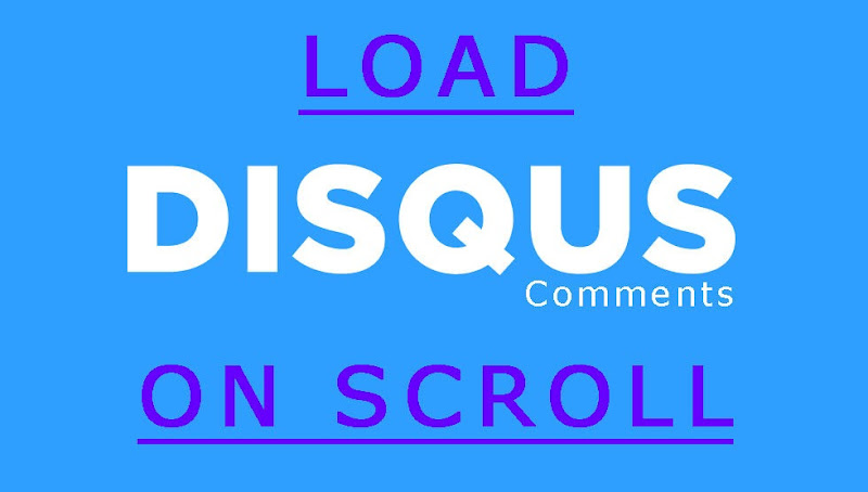 Disqus comments on scroll