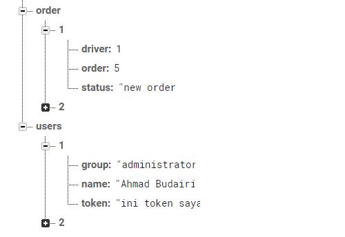 Struktur database Firebase