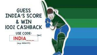 Mobikwik – Recharge with India's Score & Correct Guess gets 100% Cashback ( Selected Users)