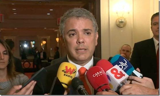 Han sido            días muy exitosos para Colombia, declaró el Presidente Duque            al concluir participación en la Asamblea de la ONU