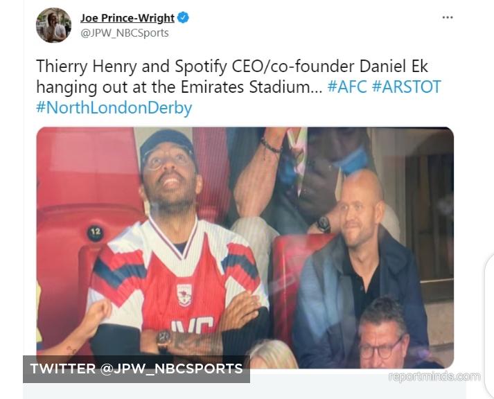 Aubameyang recreates Henry goal celebration in London derby as Arsenal thrashed Tottenham 3-1 (Photos)