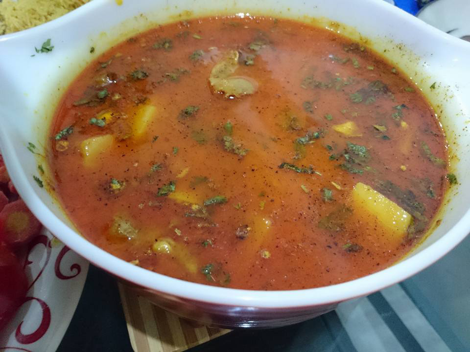 Alu Goshat (Meat & Potato) curry