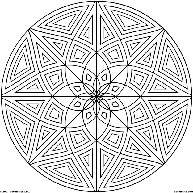 Cool Designs Coloring Pages With Geometrip Circles Set Sym