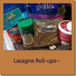 Lasagna Rolls ingredients