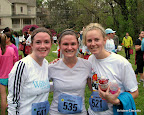 With Malia and Bunny, more of my running buddies, post-race.