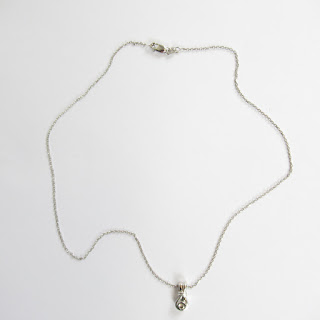 14K White Gold & CZ Necklace