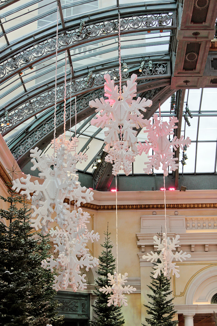 Christmas at Bellagio Conservatory and Botanical Gardens.