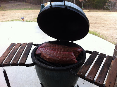 Big Green Egg Loaded with Ribs