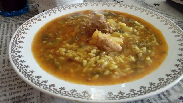 Arroz con acelgas y costillas