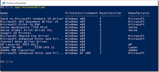 PowerShell cmdlet of the Day : Get-PrinterDriver