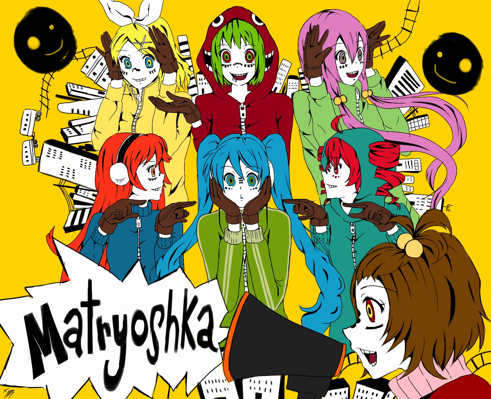 Vocaloid Matryoshka Face