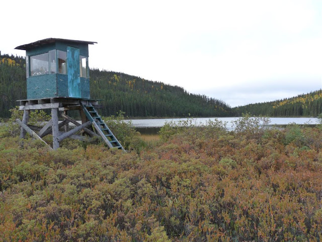 The blind in the northeast bay of Lac Fourchette