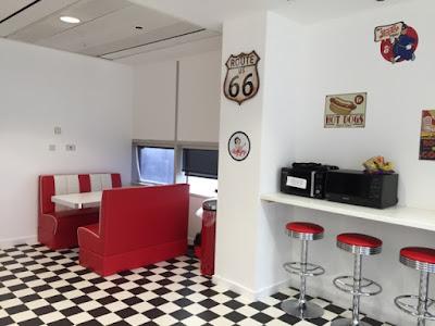 50s style office kitchen